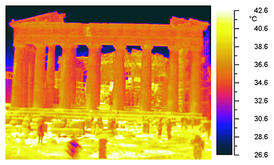 The Parthenon's infrared photograph
